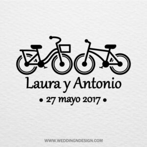 Sellos de boda Sevilla | Sello Bicicletas | Catálogo Wedding & Design