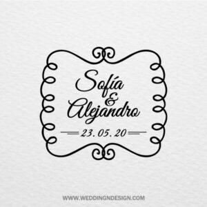 Sellos de boda Sevilla | Sello Elegant Ribbon | Catálogo Wedding & Design