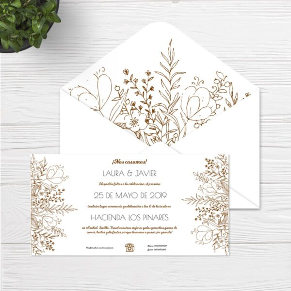 Invitaciones boda Sevilla | Invitación Arenal | Wedding & Design