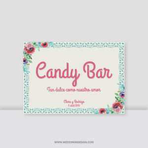 Carteles boda Sevilla | Cartel Candy Bar Sweety | Catálogo Wedding & Design