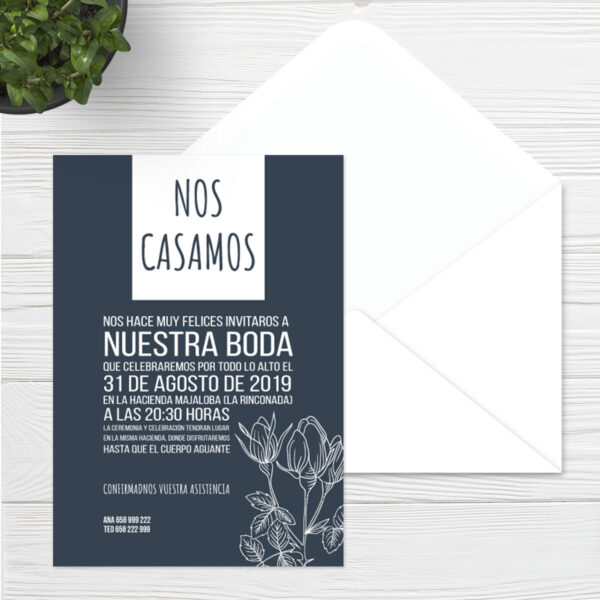 Invitaciones boda Sevilla | Invitación Day & Night | Catálogo Wedding & Design