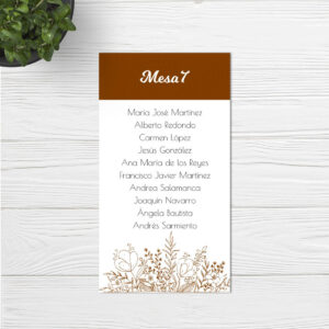 Seating plan boda Sevilla | Seating plan Arenal | Wedding & Design