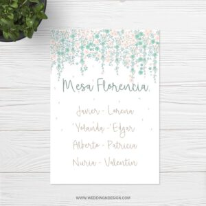 Seating plan boda Sevilla | Seating plan Cupcake | Wedding & Design