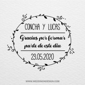 Logotipos y sellos de boda Sevilla | Diseño Circle of love | Catálogo Wedding & Design