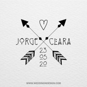 Logotipos y sellos de boda Sevilla | Sello Boho | Catálogo Wedding & Design