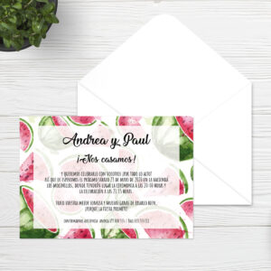 Invitaciones boda Sevilla | Invitación Watermelon | Catálogo Wedding & Design