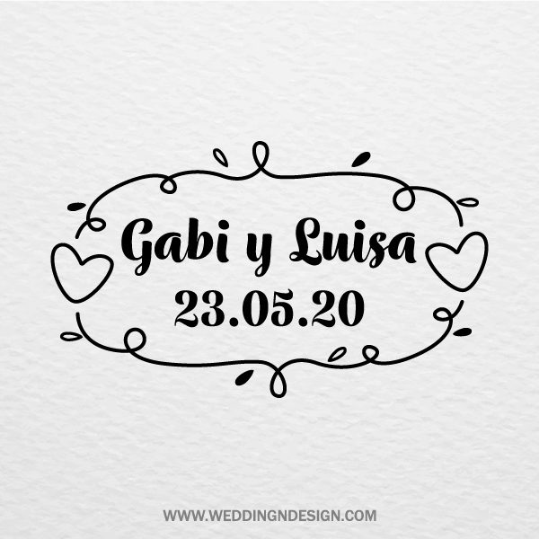 Sellos de boda Sevilla | Sello Garvin | Catálogo Wedding & Design
