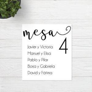 Seating plan Boda Sevilla | Seating plan Full Moon | Catálogo Wedding & Design