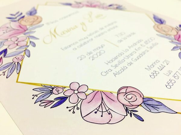Invitaciones boda Sevilla | Invitación Lavanda | Wedding & Design