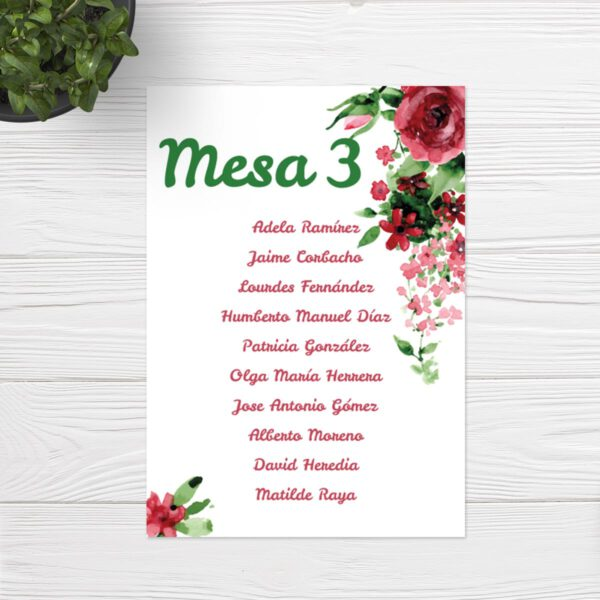 Seating plan boda Sevilla | Seating plan Primavera | Wedding & Design