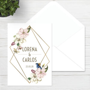 Invitaciones boda Sevilla | Invitación Gold | Catálogo Wedding & Design