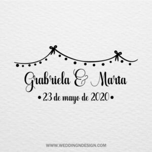 Sellos de boda Sevilla | Sello Guirnalda | Catálogo Wedding & Design