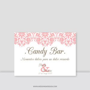 Carteles boda Sevilla | Cartel Candy Bar Paris | Catálogo Wedding & Design