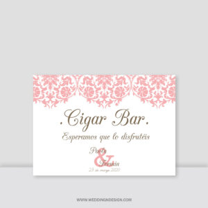 Carteles boda Sevilla | Cartel Cigar Bar Paris | Catálogo Wedding & Design