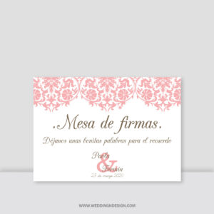 Carteles boda Sevilla | Cartel Mesa de firmas Paris | Catálogo Wedding & Design