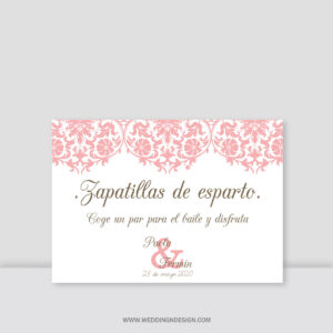 Carteles boda Sevilla | Cartel Zapatillas Paris | Catálogo Wedding & Design