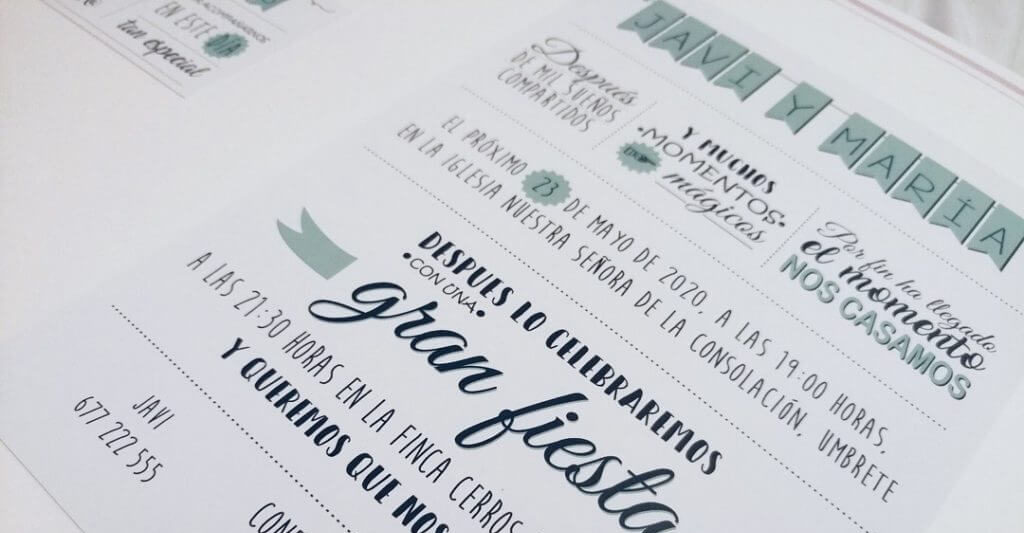 Invitaciones boda Sevilla - Invitación Marietta - Wedding & Design