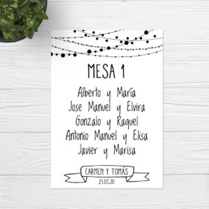 Seating plan boda Sevilla | Seating plan Couple | Catálogo Wedding & Design