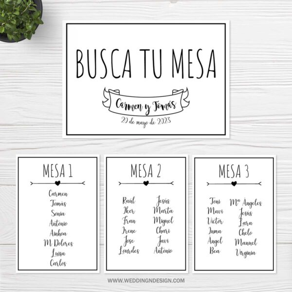 Seating plan boda Sevilla | Seating plan Moments | Catálogo Wedding & Design